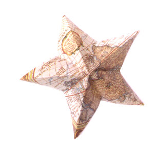 5 Point Star - Paper Relief