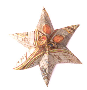 6 Point Star - Paper Relief