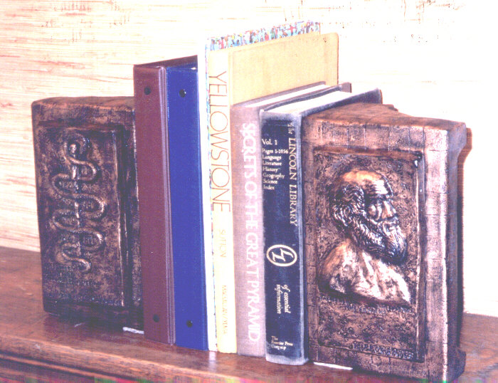 Hippocrates/Aesculaapian Wand book-ends