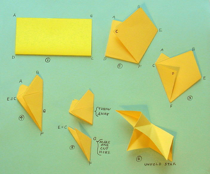 Instructions to make 5 point paper star